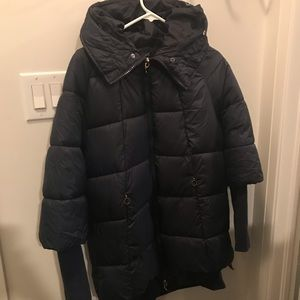 Navy winter quilted jacket